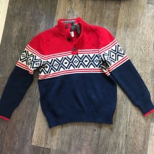 GAP | Red, White, & Blue Wool Blend Sweater